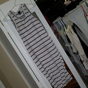 Striped maxi bodyfitting